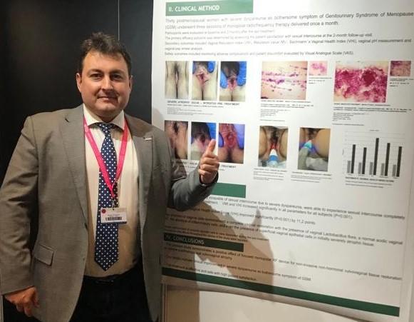 """El doctor Fernando Aznar en el Congreso Europeo de Ginecología Estética. Premiado con el """"Award Best Poster 2019"""""""